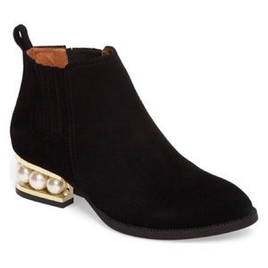 Jeffrey Campbell Suede Pearl Booties